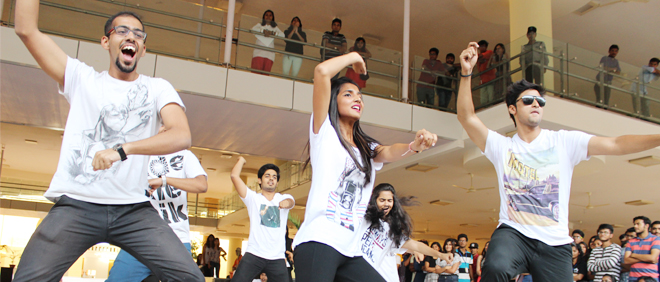 Student performance during Annual Fest